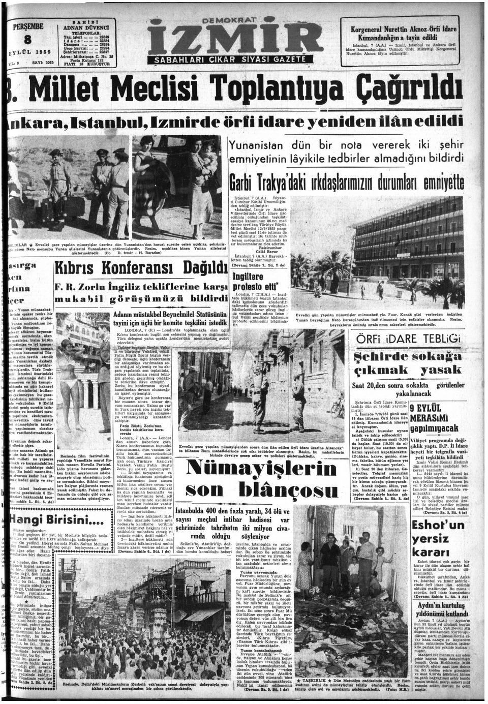 1955 izmir olaylari